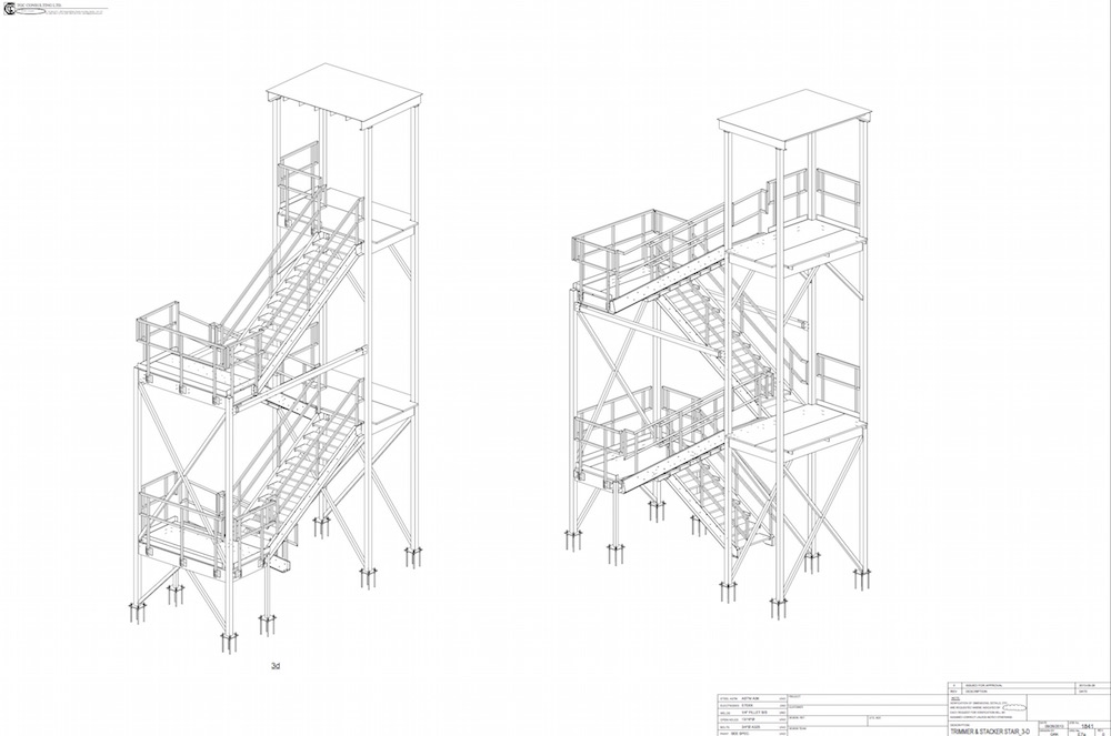 various - trimmer and stacker stair