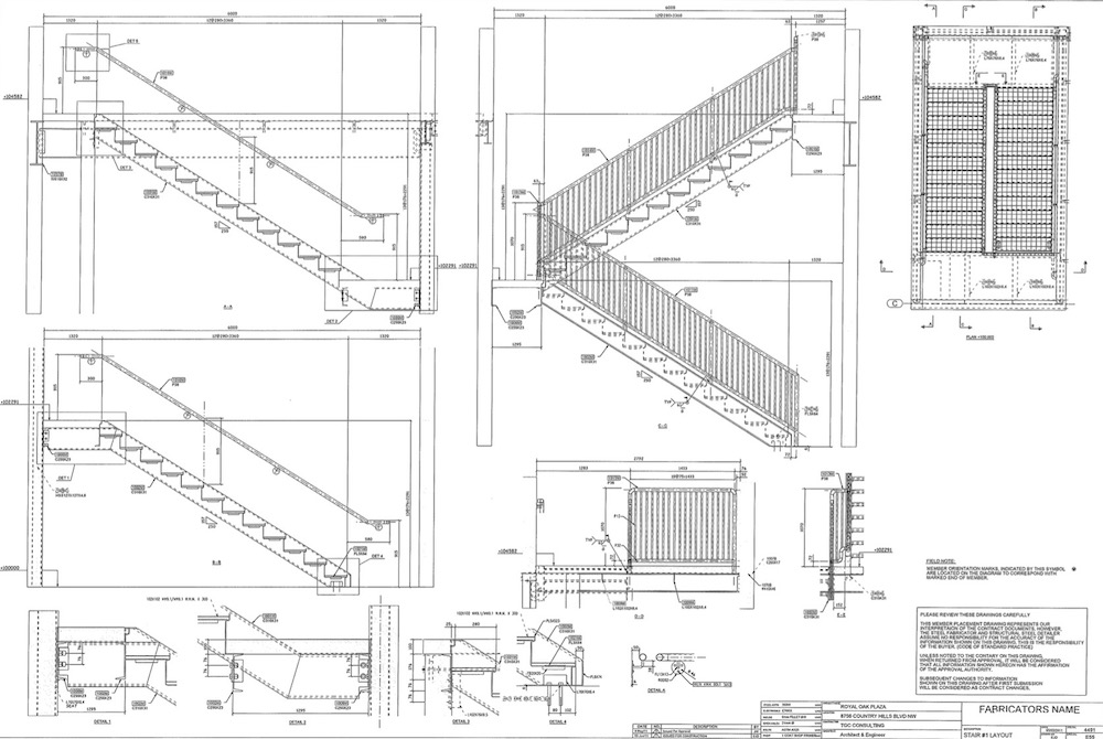 Royal Oak Plaza - TGC Consulting Services - Miscellaneous & Structural Steel Drawings, Fabrication and Detailing