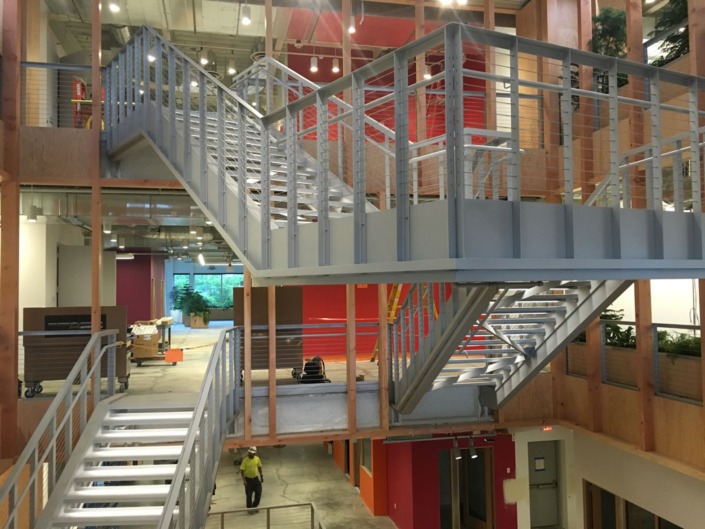 Steel Complex Handrails and Stairs