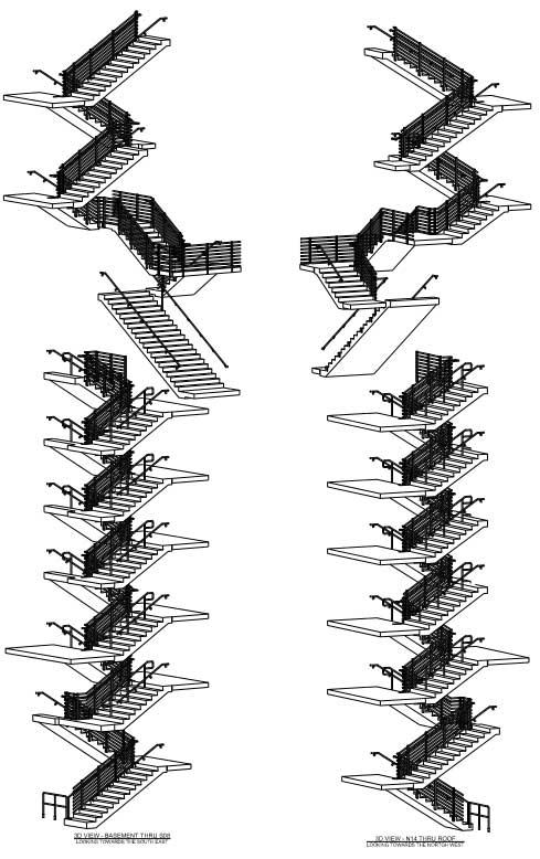 255 South King Street Stair Drawings